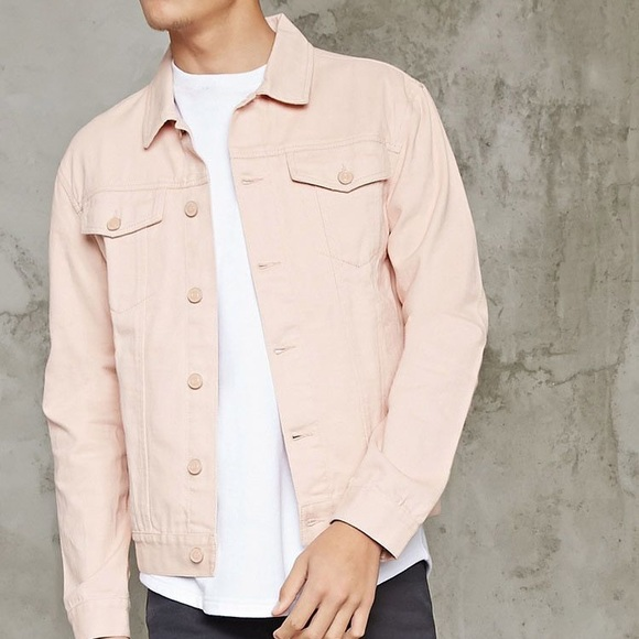 Forever 21 Jackets Coats Men Pink Jean Jacket Poshmark